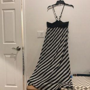 Beautiful black and gray dress